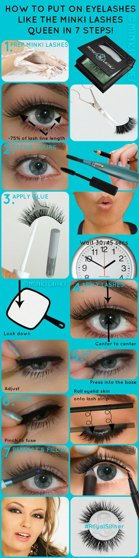 How to Put on Eyelashes by Minki Lashes