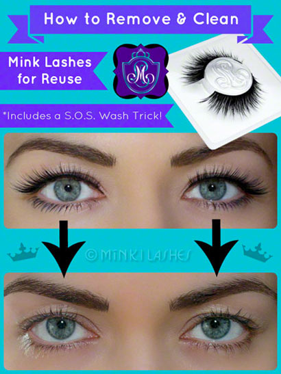 How to Remove and Clean Mink Lashes