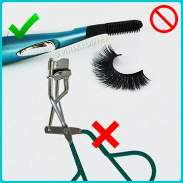 No Clamp Eyelash Curler on Mink Lashes