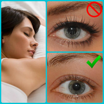 Remove Fake Lashes Before Bed
