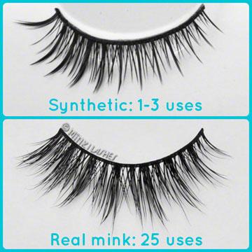 Reusable Mink Eyelashes vs Synthetic