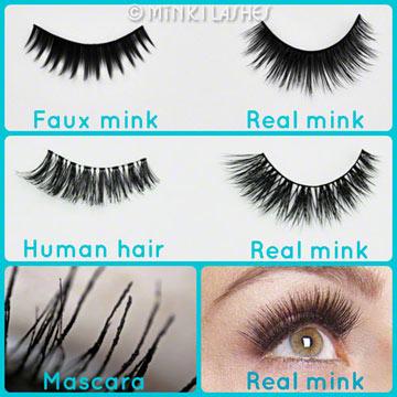Siberian Mink Lashes vs Faux Mink vs Human Hair