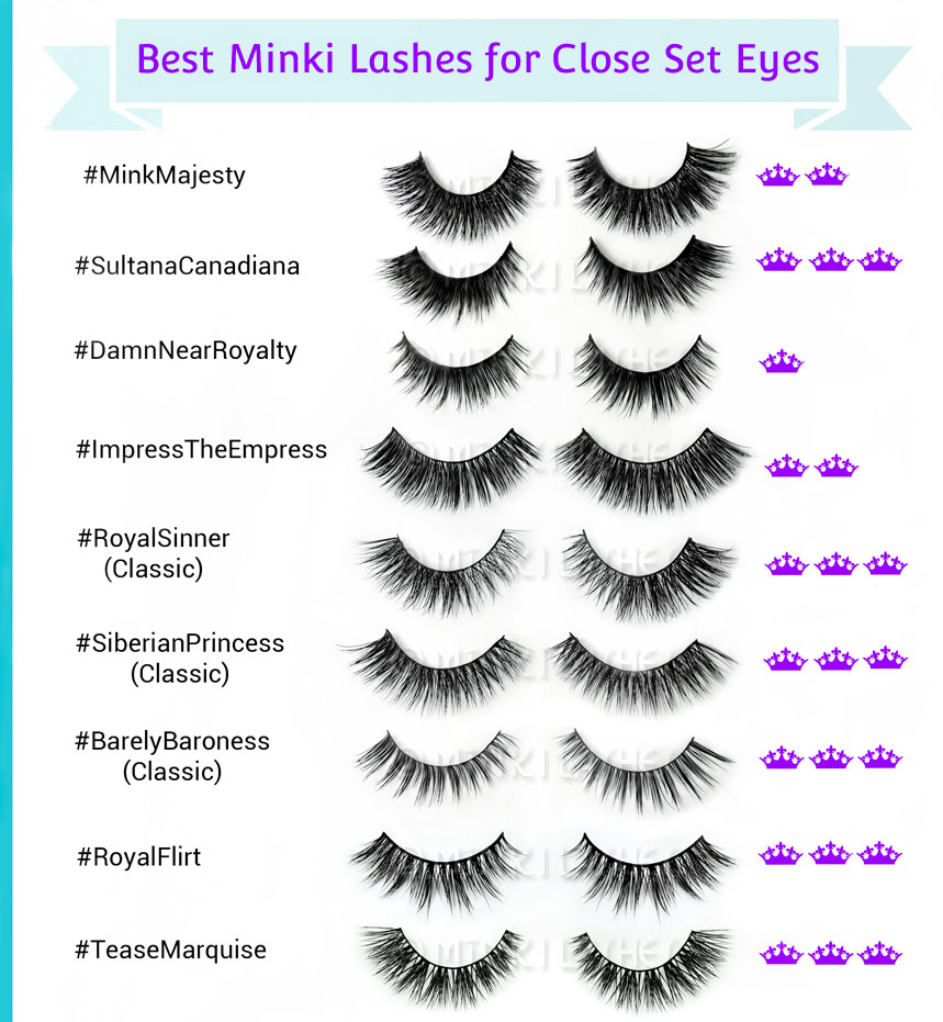 Best Lashes Close Set Eyes