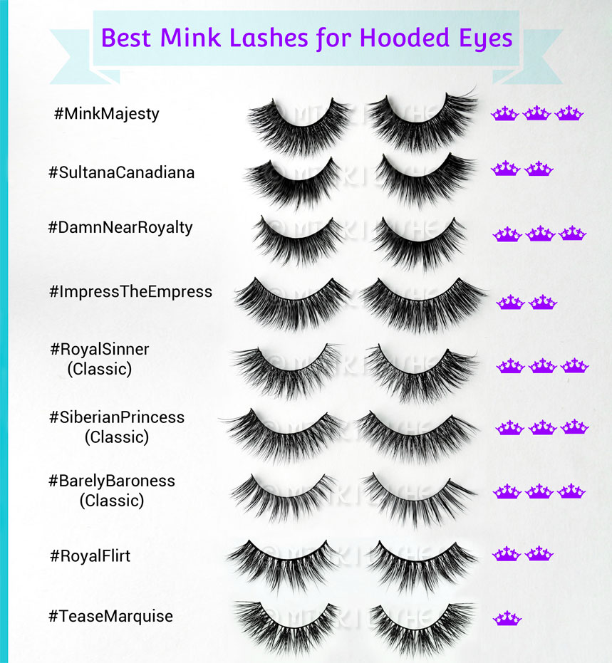 Best Mink Lashes for Hooded Eyes