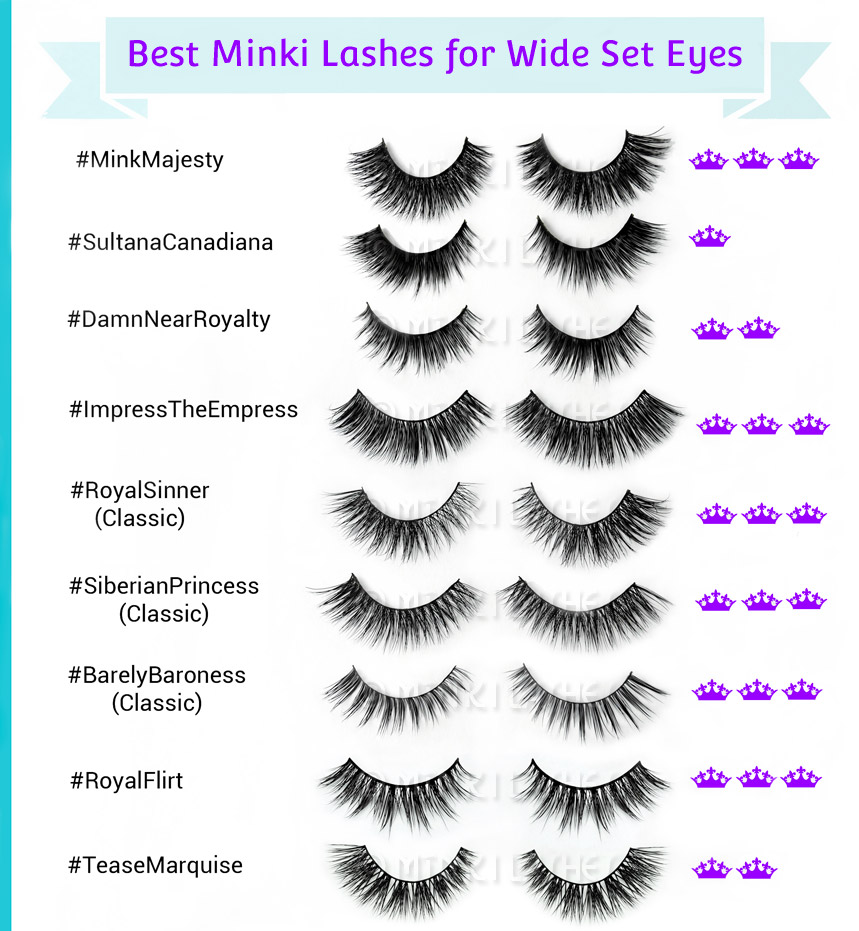 Best Mink Lashes for Wide Set Eyes