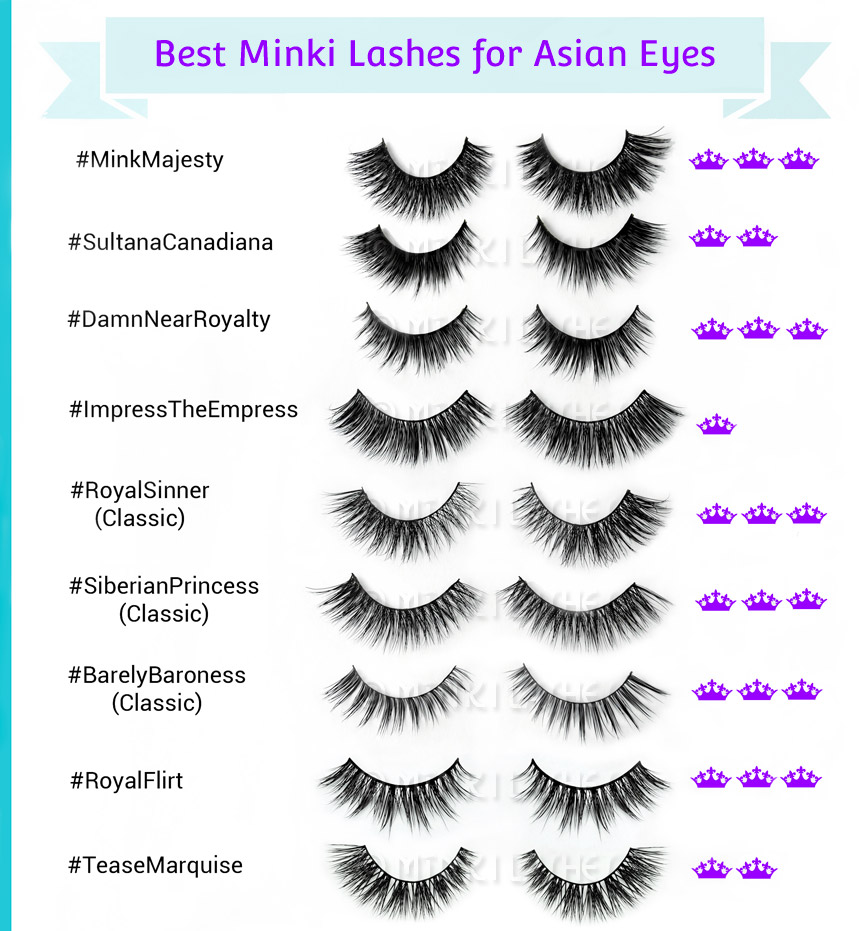 Natural False Lashes For Asian Eyes