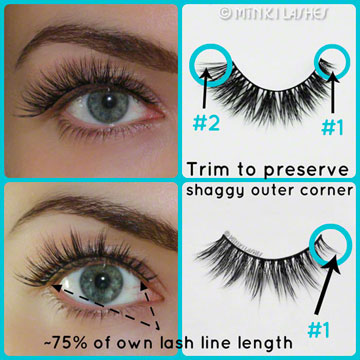 How to Trim False Lashes