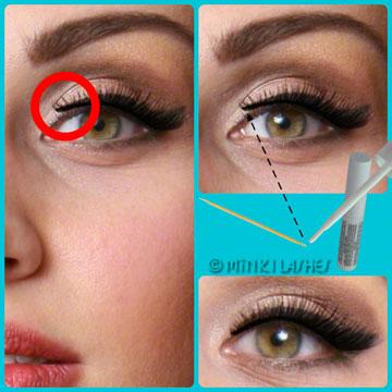 Mink Eyelashes Inner Corner Fix Trick