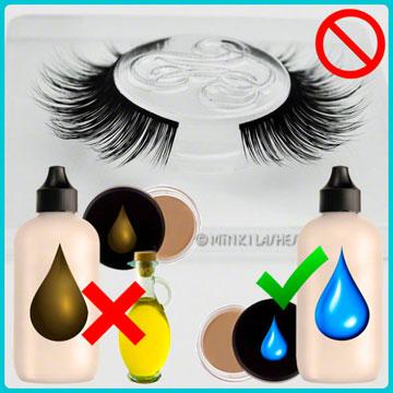No Oily Products on Minki Lashes